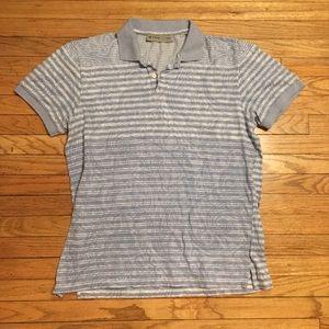 Etro blue striped polo shirt - Large